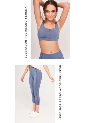 Conjunto Sujetador y leggings azul ActandBe