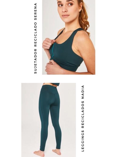 Pack leggings y sujetador verde ActandBe