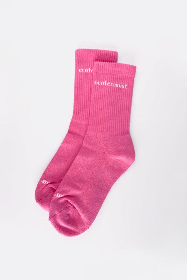 Calcetines deportivos orgánicos Ecofeminist rosa